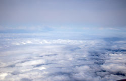 Clouds on the sky seen from flight Royalty Free Stock Images