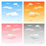 Clouds and sky - set Royalty Free Stock Photography