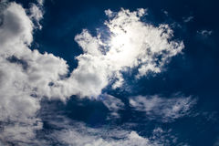 Clouds sky shape Royalty Free Stock Images