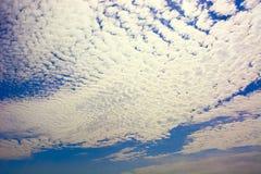Clouds,sky,sheep sky. Cloud formation called sheep sky Stock Image