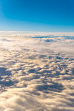 clouds sky skyscape. view from the window of an airplane flying Royalty Free Stock Photography