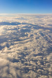 clouds sky skyscape. view from the window of an airplane flying Stock Image