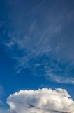 Clouds and sky before storm Royalty Free Stock Photo
