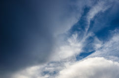 Clouds and sky before storm Royalty Free Stock Image
