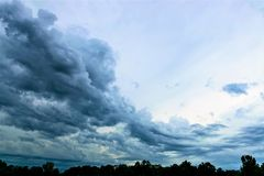 Clouds and sky after a storm Royalty Free Stock Photos