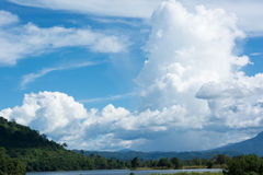 Clouds in the sky. Summer stock photos