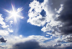 Clouds and sky on a sunny day Royalty Free Stock Photos