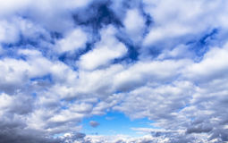 Clouds and sky on a sunny day Royalty Free Stock Image