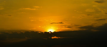 Clouds and sky in sunrise. Clouds with sky background and Light golden morning sunrise Stock Photography