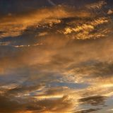 Clouds in sky with sunset. Golden clouds in sky with sunset Stock Images