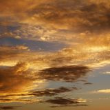 Clouds in sky with sunset. Royalty Free Stock Photos