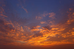 Clouds and sky at sunset Royalty Free Stock Photography