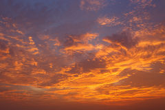 Clouds and sky at sunset Royalty Free Stock Photos