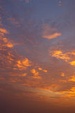 Clouds and sky at sunset Royalty Free Stock Images