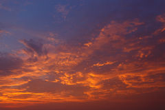 Clouds and sky at sunset Royalty Free Stock Image