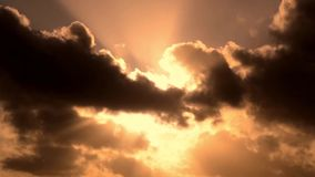 Clouds in the sky at sunset stock footage