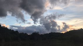 Clouds in sky time-lapse photography stock video footage