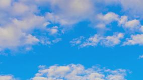 Clouds in the sky timelapse stock video footage