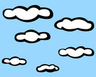 Clouds in the sky vector illustration Stock Images