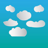 Clouds sky vector illustration. Clouds and blue sky vector illustration Stock Images