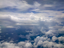 Clouds and sky. Sky view of cloudscape and earth Royalty Free Stock Photography