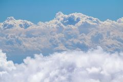 Clouds in the sky. View from mountain Royalty Free Stock Photography