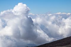 Clouds in the sky. View from mountain Royalty Free Stock Photos