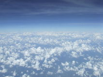 Clouds and sky, View on plane. Clouds and blue sky, View on plane Royalty Free Stock Photos