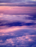 Clouds and sky view from a plane. Sky and clouds image taken form above while flying in a plane Royalty Free Stock Images