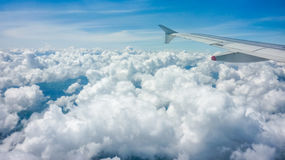 Clouds and Sky View from Window Plane Stock Images