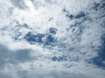 The clouds in the sky. White clouds in the sky. Sky with clouds Royalty Free Stock Photo