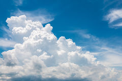 Clouds in the sky. White clouds in the blue sky Stock Image