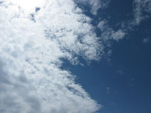 The clouds in the sky. White clouds on blue sky. Sky with clouds Royalty Free Stock Photo