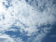 The clouds in the sky. White clouds on blue sky. Sky with clouds Stock Photography