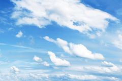 Clouds in sky. White clouds in a blue sky Royalty Free Stock Photo