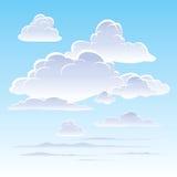 clouds skyen royaltyfri illustrationer
