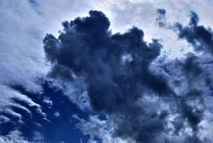 clouds skyen Royaltyfri Foto