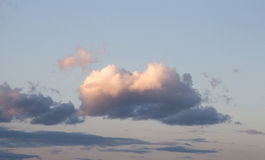 clouds skyen Royaltyfria Bilder