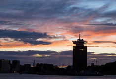 Clouds skyline Amsterdam royalty free stock image