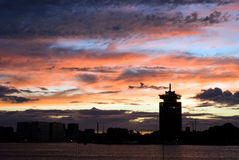 Clouds skyline Amsterdam. Clouds above skyline Amsterdam Royalty Free Stock Images
