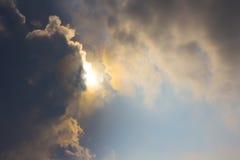 clouds skysunen Royaltyfri Bild