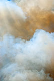 Clouds of smoke. Photo of colorful clouds of smoke Royalty Free Stock Images