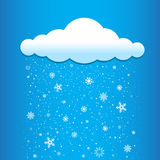 Clouds snow falls Royalty Free Stock Photography
