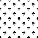 Clouds and snow pattern, simple style Royalty Free Stock Photos