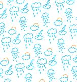 Clouds, snow, rain, sun and storms Stock Photography