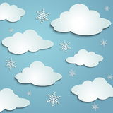 Clouds, snowflakes Royalty Free Stock Photos