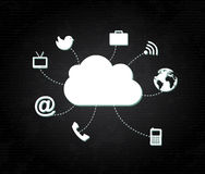 Clouds social icons Royalty Free Stock Photos