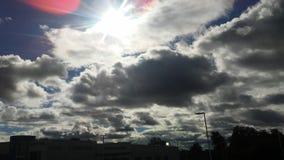 clouds soligt Royaltyfri Fotografi