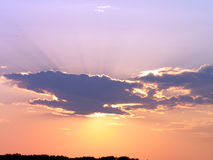 clouds solnedgång Arkivfoton