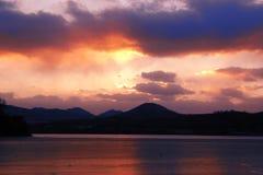 clouds solnedgång Arkivfoto